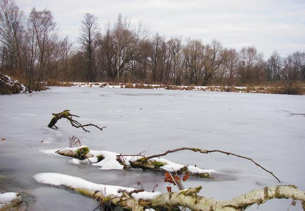 Незнакомом места на поиск уловистого водоёме зимой